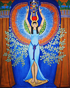 Hathor Metal Prints - Isis - Aset Metal Print by Diveena Marcus