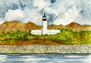 Puerto Rico Paintings - Isla de Cardona Lighthouse by Michael Vigliotti