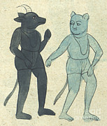 Djinn Posters - Islamic Demons, Jinns, 17th Century Poster by Photo Researchers