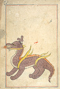 Allah Photos - Islamic Dragon, 17th Century by Photo Researchers