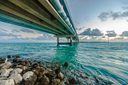 Florida Bridge Framed Prints - Islamorada Crossing Framed Print by Dan Vidal