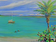 Snorkeling Painting Originals - Islamorada Snorkeling by Anne Marie Brown