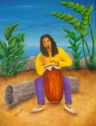 Trinidad Paintings - Island Beat by Pamela Allegretto