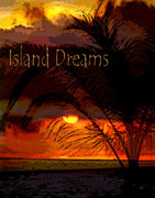 Summer Digital Art Metal Prints - Island Dreams Metal Print by Gerlinde Keating - Keating Associates Inc