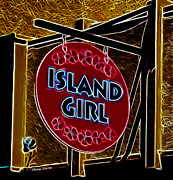 Vendors Prints - Island Girl Print by Cheryl Young