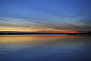 Island Heights At Dusk Print by Terry DeLuco
