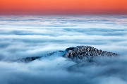 Clouds Prints - Island in the Clouds Print by Evgeni Dinev