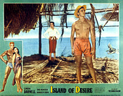 Lobbycard Framed Prints - Island Of Desire, Linda Darnell, Tab Framed Print by Everett