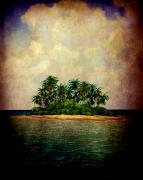 Tropical Dreams Posters - Island of Dreams Poster by Susanne Van Hulst