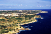 Gozo Acrylic Prints - Island of Gozo Aerial View Acrylic Print by Thomas R Fletcher