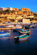 Gozo Acrylic Prints - Island of Gozo Mgarr Harbor Acrylic Print by Thomas R Fletcher