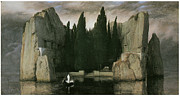 Arnold Framed Prints - Island of the Dead Framed Print by Arnold Bocklin
