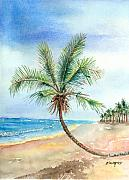 Palmtrees Framed Prints - Island Palm Framed Print by Arline Wagner