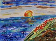 Island Poppy Sundown Print by Mary Carol Williams