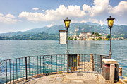 Lake Reflection Framed Prints - Island san giulio on lake orta Framed Print by Mats Silvan