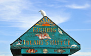 Saltwater Fishing Metal Prints - Island Shuttle Metal Print by David Lee Thompson