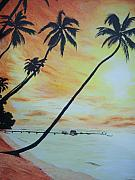 Island Sunset Print by Ken Day