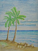 North Shore Pastels Posters - Island Poster by Thuraya R