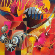 Tropical Wildlife Paintings - Island Treasures II by Maria Rova