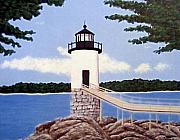 Lighthouse Paintings - Isle Au Haut Lighthouse by Frederic Kohli