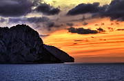 Capri Posters - Isle of Capri Sunset Poster by Janet Fikar