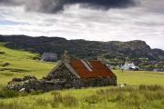 Country Cottage Photos - Isle Of Colonsay, Scotland Stone by John Short