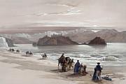Isle Of Graia Gulf Of Akabah Arabia Petraea Feby 27th 1839 Print by Munir Alawi