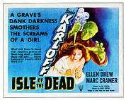 1945 Movies Framed Prints - Isle Of The Dead, From Top Boris Framed Print by Everett