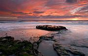 Sunset Seascape Posters - Isle of the Setting sun Poster by Mike  Dawson