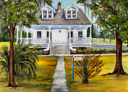 Southern Plantation Paintings - Islenos Museum by Elaine Hodges