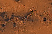 Impact Art - Ismenius Lacus Region Of Mars by Stocktrek Images