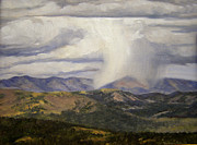 Cloudy Day Paintings - Isolated Showers by Victoria  Broyles