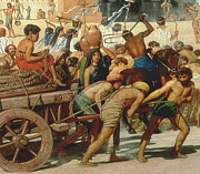 Slaves Painting Posters - Israel in Egypt Poster by Sir Edward John Poynter
