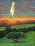 Jewish Paintings - Israel Lights Up Our Lives II by Jane  Simonson