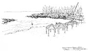 Israel Drawings - Israel Tel Aviv Beach by Robert Birkenes