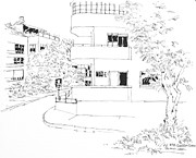 Israel Drawings - Israel Tel Aviv Building 39 by Robert Birkenes
