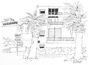 Israel Drawings - Israel Tel Aviv Street Scene by Robert Birkenes
