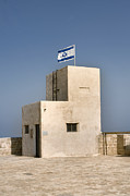 Star Of David Photos - Israeli Flag On An Old Building by Noam Armonn