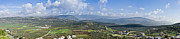 Landscape In Israel Prints - Israeli Valley Panorama Print by Noam Armonn