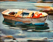 Impressionism Mixed Media - Istrian fishing boat by Dragica  Micki Fortuna