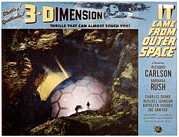 Lobbycard Framed Prints - It Came From Outer Space, 1953 Framed Print by Everett