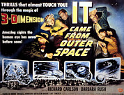1950s Movies Prints - It Came From Outer Space, Joe Sawyer Print by Everett