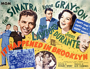 1940s Movies Photo Posters - It Happened In Brooklyn, Frank Sinatra Poster by Everett