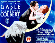 Clark Gable Framed Prints - It Happened One Night, Clark Gable Framed Print by Everett