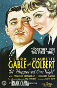 Clark Gable Art - It Happened One Night by Nomad Art and  Design