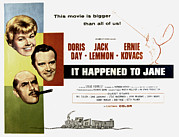 Doris Day Framed Prints - It Happened To Jane, Doris Day, Jack Framed Print by Everett