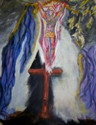 Catholic Art Painting Originals - It Is Finished by Ann Whitfield