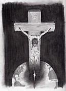 Religious Art Drawings - It Is Finished by Lou Knapp