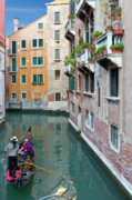 Italy Canal Posters - It Must be Venice Poster by Janet Fikar