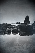 Cannon Beach Prints - It Seems So Shallow and Low Print by Laurie Search